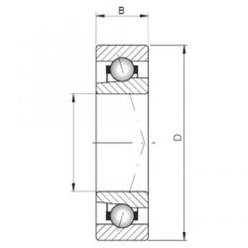 ISO 71802 A angular contact ball bearings