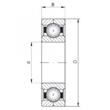 ISO Q324 angular contact ball bearings