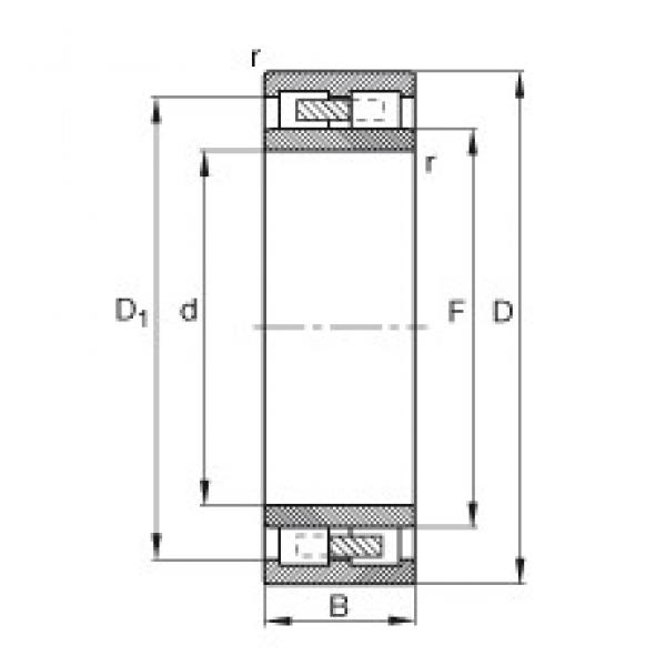 120 mm x 200 mm x 80 mm  FAG NNU4124-M cylindrical roller bearings #2 image