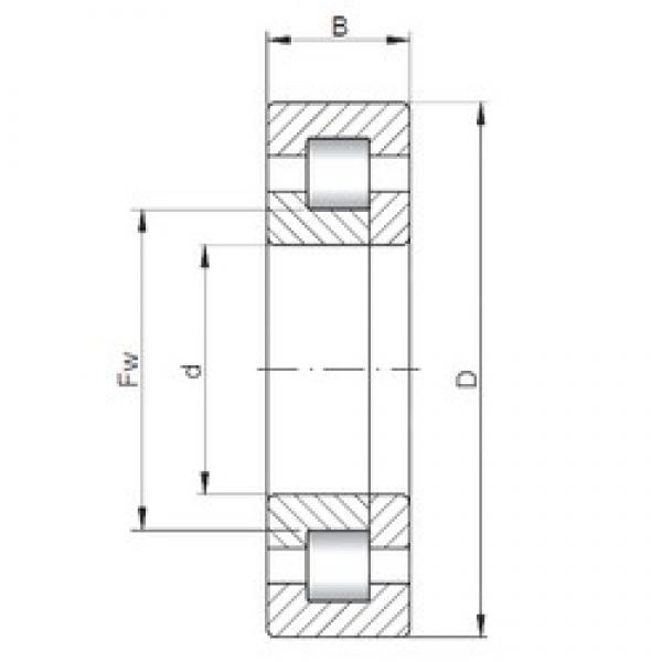 380 mm x 560 mm x 106 mm  ISO NUP2076 cylindrical roller bearings #2 image