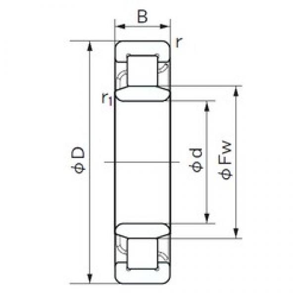 340 mm x 520 mm x 82 mm  NACHI NU 1068 cylindrical roller bearings #2 image